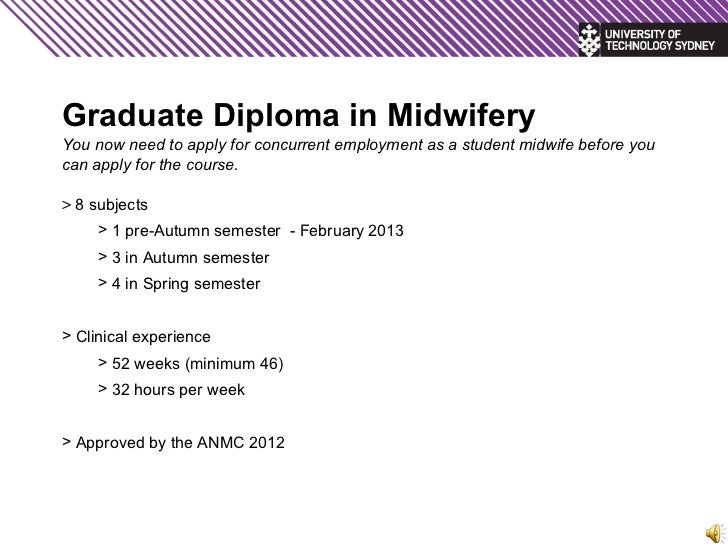 graduate-diploma-in-midwifery-info-evening-5-728 Sample Application Letter For Midwife on summer job, for graduation, for training,
