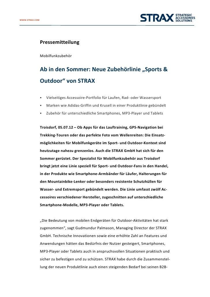 WWW.STRAX.COM             Pressemitteilung                          Mobilfunkzubehör                          Abind...