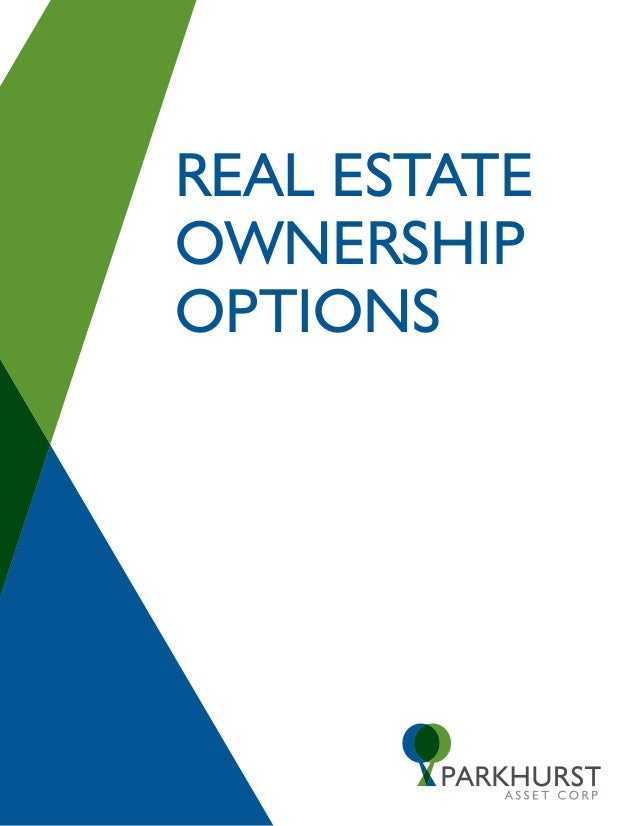 Investment property ownership options