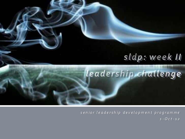 senior leadership development programme                               1-Oct-12