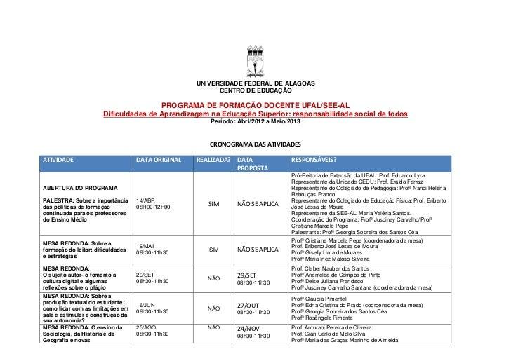 UNIVERSIDADE FEDERAL DE ALAGOAS                                                         CENTRO DE EDUCAÇÃO                ...