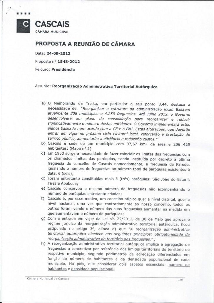 12.09.24 Proposta da CMC sobre a reorganização administrativa Cascais