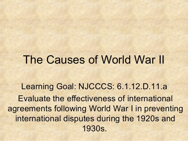 12 1 1 Causes Of World War Ii