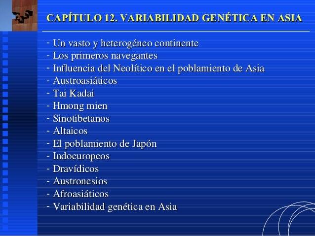 CAPÍTULO 12. VARIABILIDAD GENÉTICA EN ASIA- Un vasto y heterogéneo continente- Los primeros navegantes- Influencia del Neo...