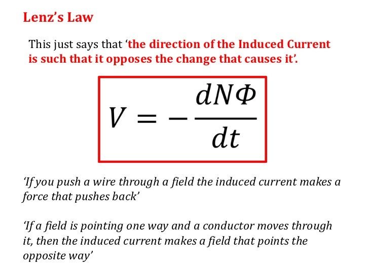 lenz s law Faraday's law and lenz's law 2-18-98 relevant sections in the book : 224 - 225 faraday's law of induction we'll move from the qualitative investigation of induced emf to the quantitative.