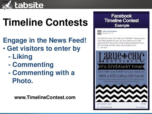 Facebook Promotions and Contests