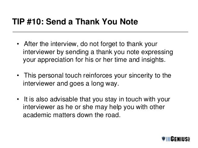 thank you email after informational interview