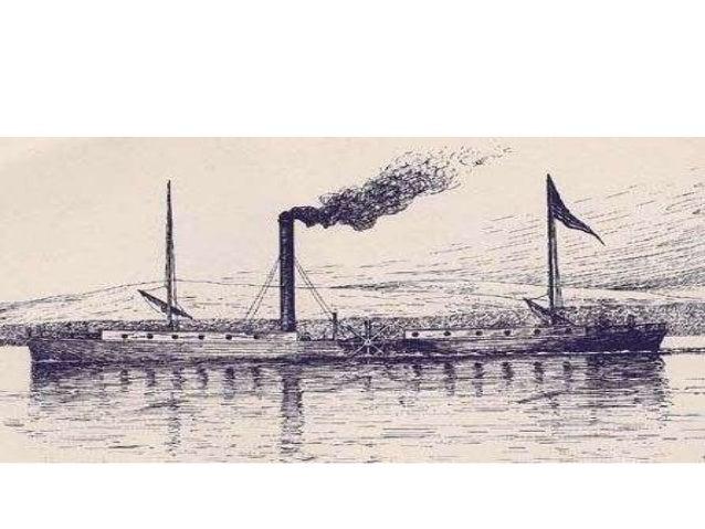 ► Δεξιά το  πολεμικό  ατμόπλοιο της  ελληνικής  επανάστασης  «Καρτερία»  αγορασμένο με  χρήματα των  δανείων της  Αγγλίας