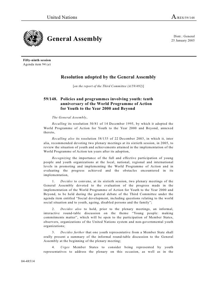 United Nations                                                                  A/RES/59/148                              ...