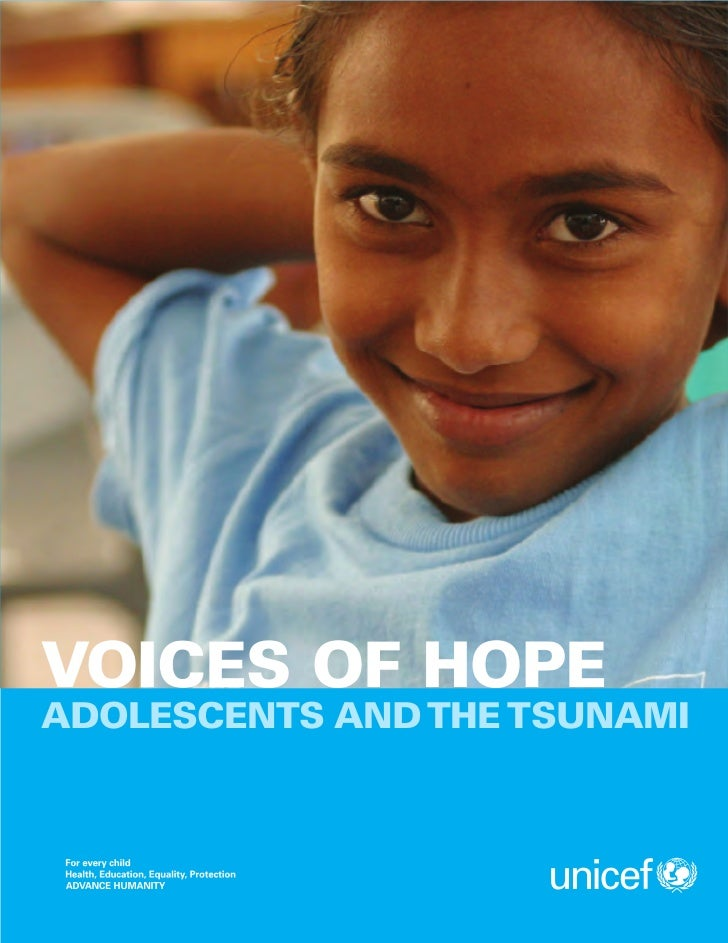 VOICES OF HOPEADOLESCENTS AND THE TSUNAMI