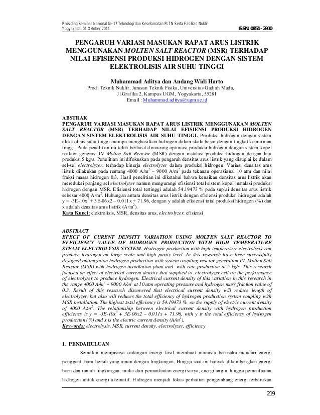 Prosiding Seminar Nasional ke-17 Teknologi dan Keselamatan PLTN Serta Fasilitas Nuklir Yogyakarta, 01 Oktober 2011 219 ISS...