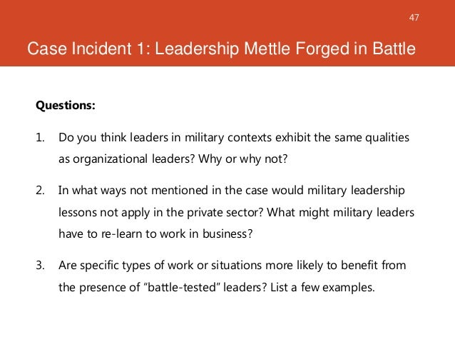 essay on military leadership