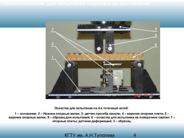 Приспособления для испытания образцов на растяжение  Оснастка для испытания на 4-х точечный изгиб: 1 – основание; 2 – Нижн...