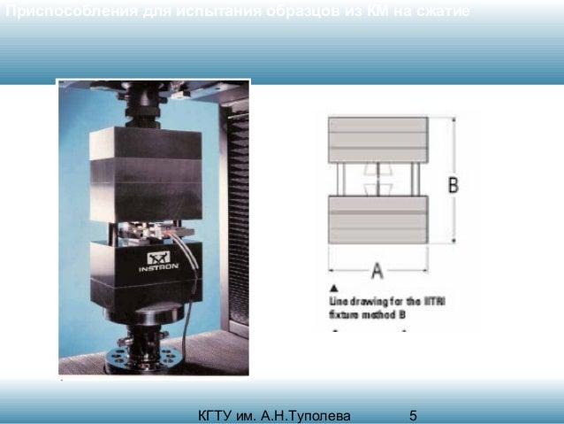 Приспособления для испытания образцов из КМ на сжатие  КГТУ им. А.Н.Туполева  5