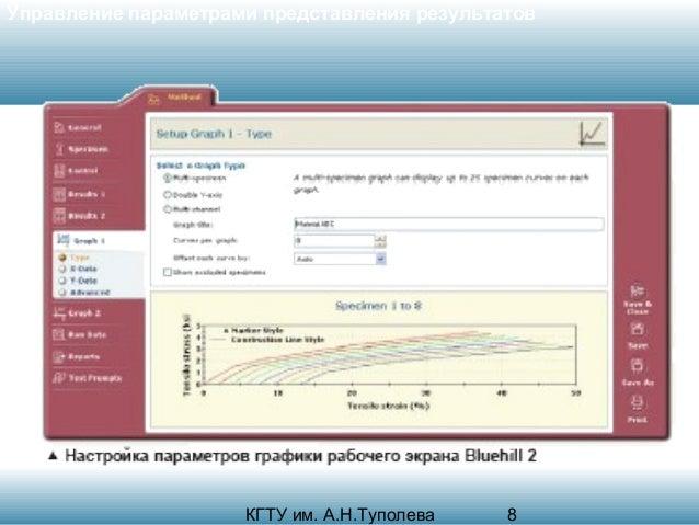Управление параметрами представления результатов  КГТУ им. А.Н.Туполева  8
