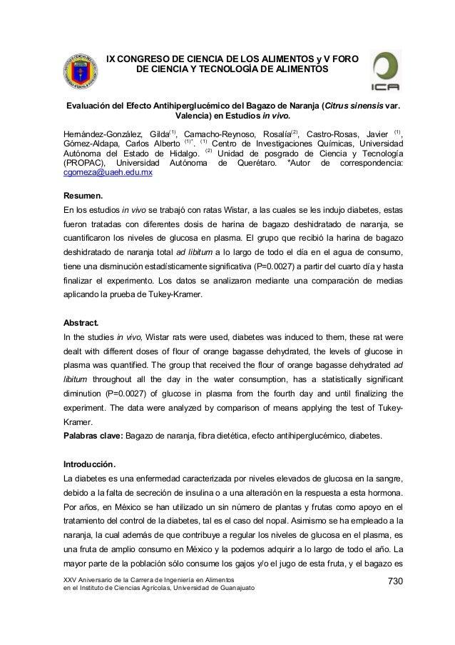 IX CONGRESO DE CIENCIA DE LOS ALIMENTOS y V FORO DE CIENCIA Y TECNOLOGÍA DE ALIMENTOS XXV Aniversario de la Carrera de Ing...
