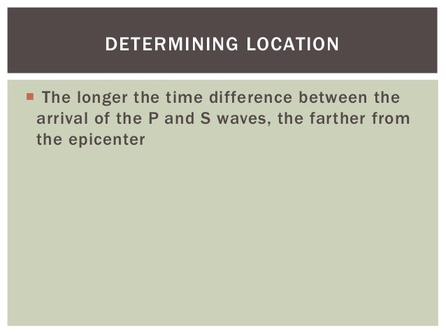 Travel Time Epicenter Difference