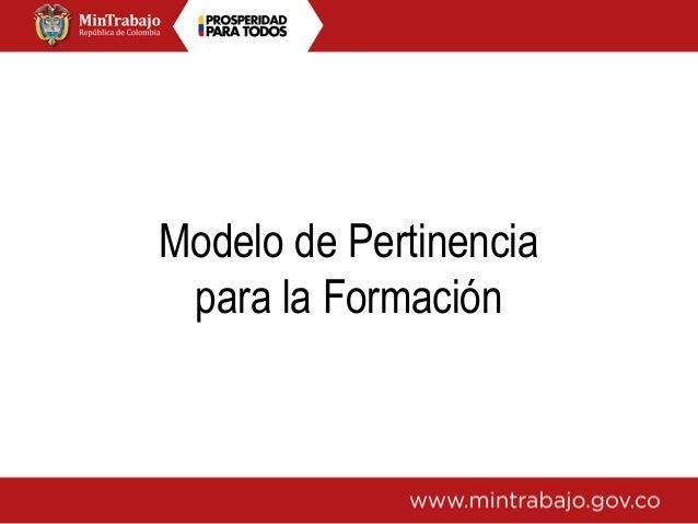Modelo de Pertinencia para la Formación