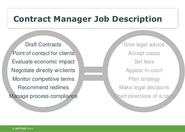 The Role Of The Contract Manager In The Legal Department