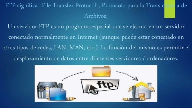 """FTP significa """"File Transfer Protocol"""", Protocolo para la Transferencia de Archivos. Un servidor FTP es un programa especi..."""