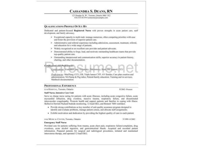 icu rn resume sample 2 - Nurse Resume Samples