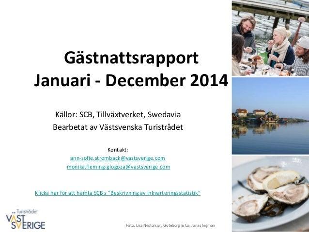 Inkvarteringsstatistik Vastra Gotaland 2014