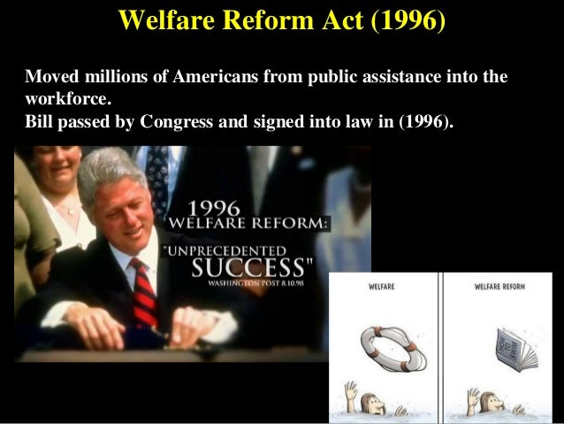 1996 welfare reform law