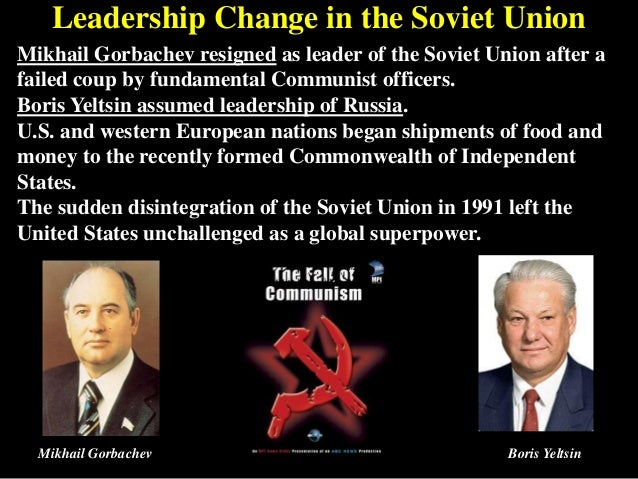 the events that led to the 1991 disintegration of the soviet union The soviet union at its largest size in 1991,  leonid brezhnev led the soviet union from 1964  and starting the chain of events that would lead to the union's.
