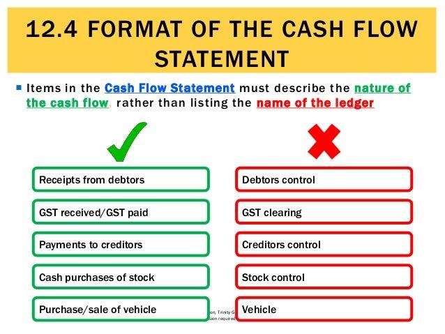 Cash Flow Statements | 12 4 Format Of The Cash Flow Statement