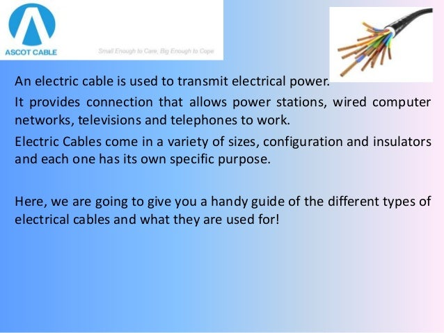 types of electrical cables pdf