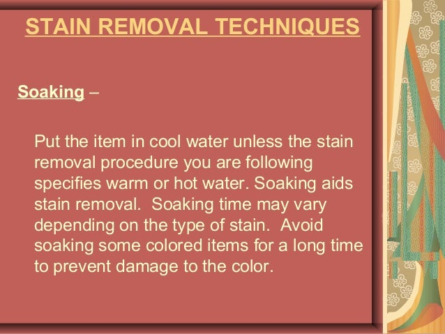 Textile Finishing Stains