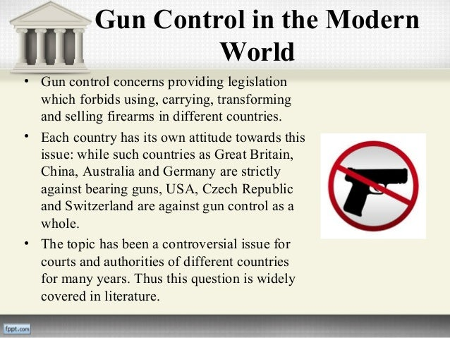 a report on the gun control experiment The aspect of an experiment situation  gun control or control by gun  gun control report for the history/social science department at san marcos high.