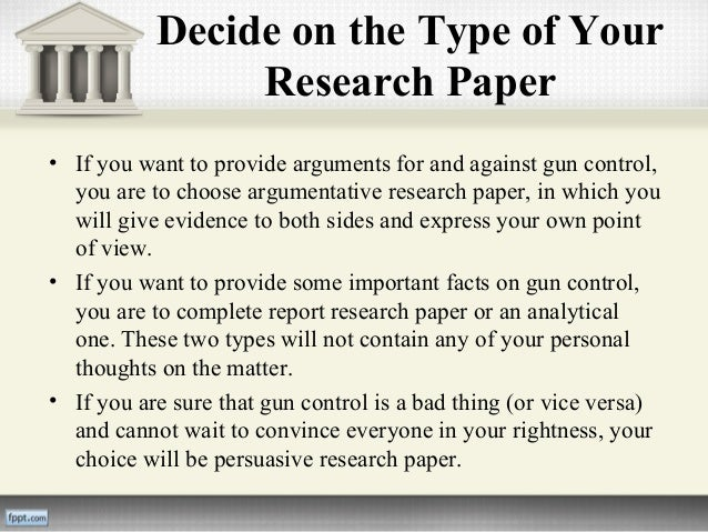 Gun control research papers