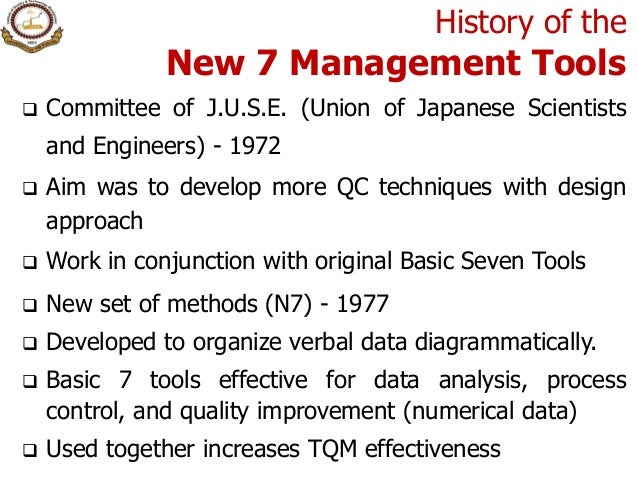 Process Decision Program Charts 3 History Of The New 7 Management Tools