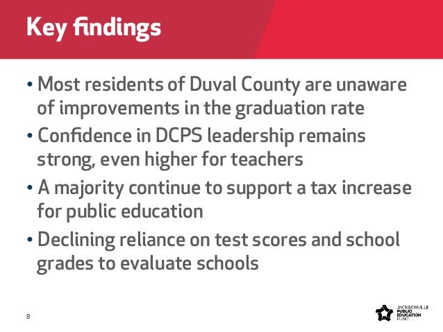 ... methodology; 8. 8 • Most residents of Duval County ...