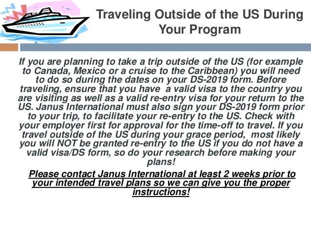 J  Visa Traveling Outside Us