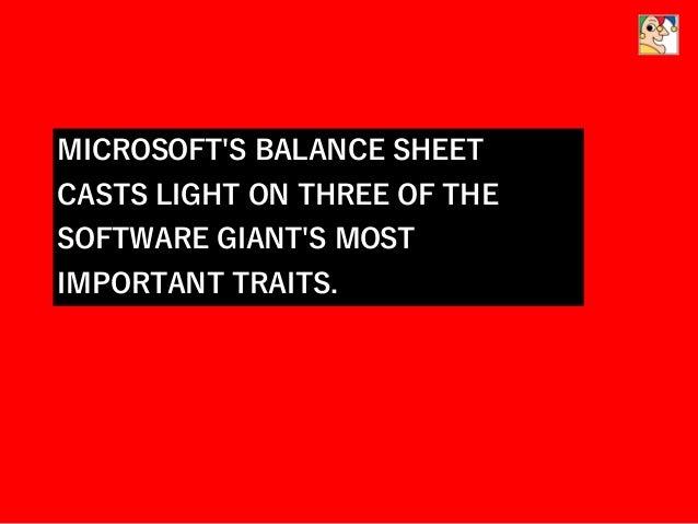 Microsoft S Balance Sheet