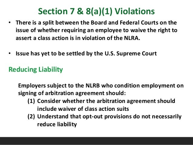 Labor and Employment Law Update 121015 – Employment Arbitration Agreement