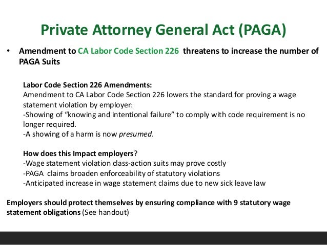 Labor And Employment Law Update