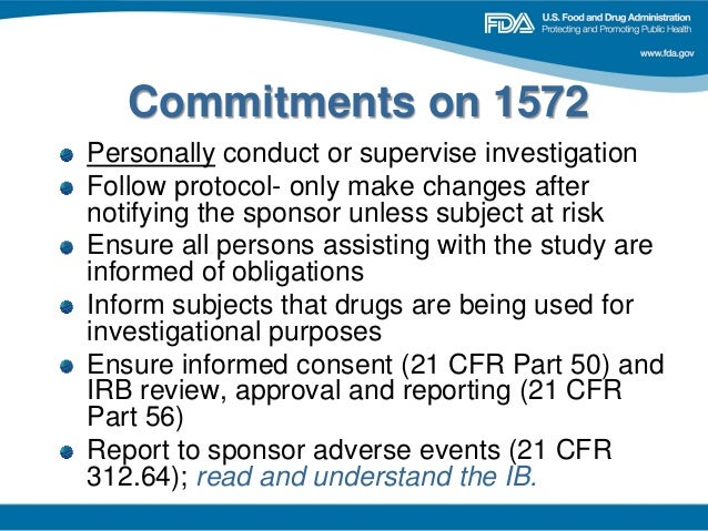 FDA 2013 Clinical Investigator Training Course: Investigator Responsi…