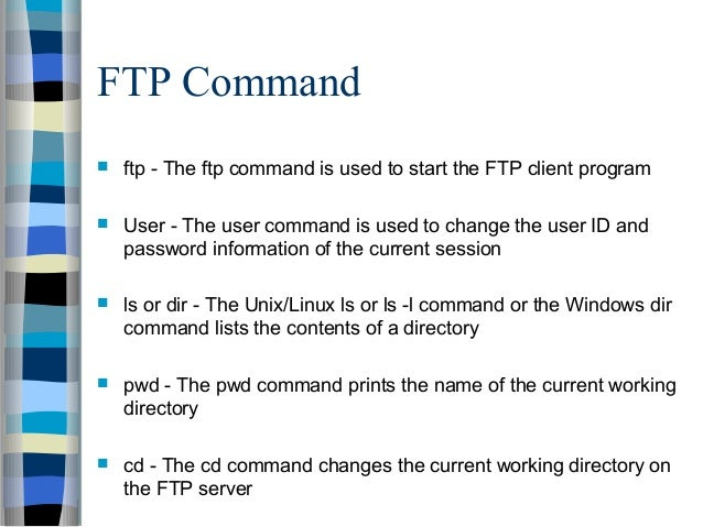 file transfer and access utilities
