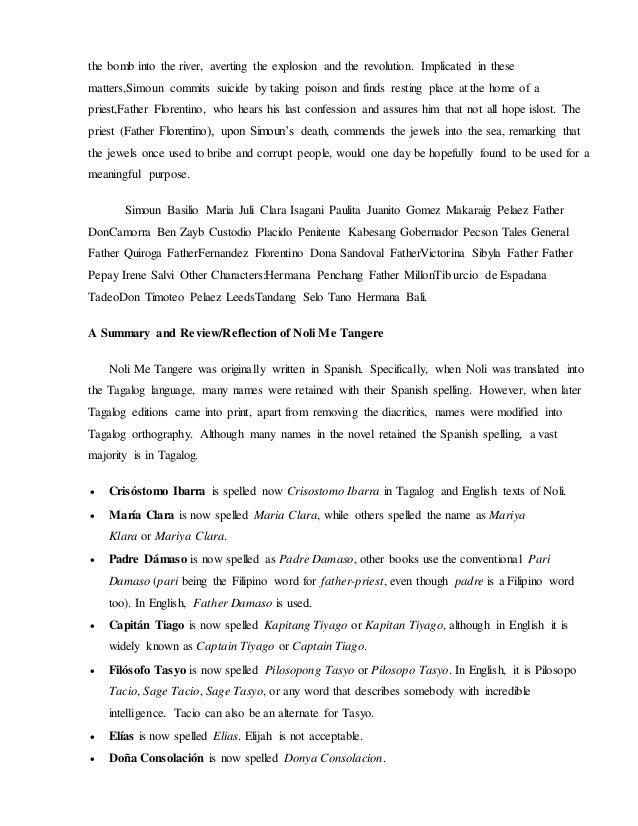 el filibusterismo term paper tagalog