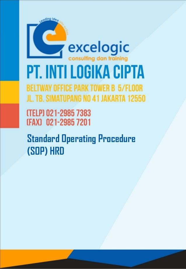 Standard Operating Procedure (SOP) HRD