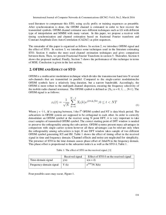 A Joint Timing Offset And Channel Estimation Using Fractional Fourier
