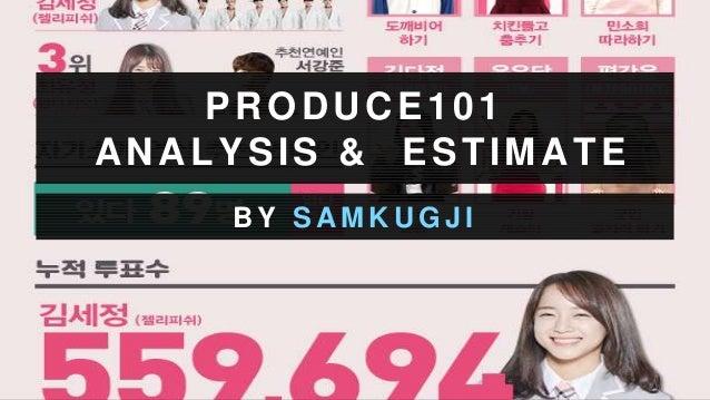PRODUCE101 ANALYSIS & ESTIMATE B Y S A M K U G J I