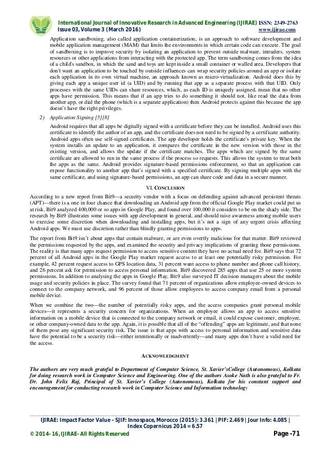 conflict research paper ltd
