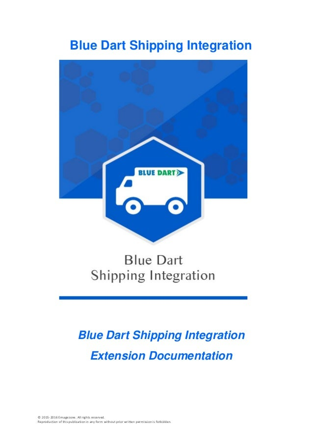 Blue Dart Shipping Extension for Magento