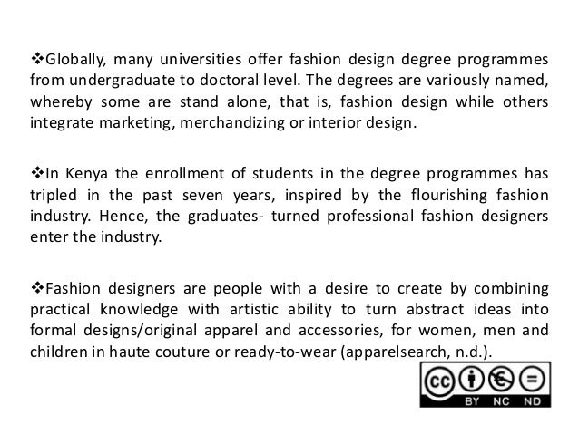 6 Globally Many Universities Offer Fashion Design Degree
