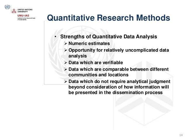 Research Methodology Workshop - Quantitative and Qualitative