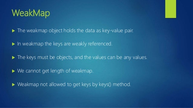 12  Map   WeakMap   ES6   JavaScript   Typescript